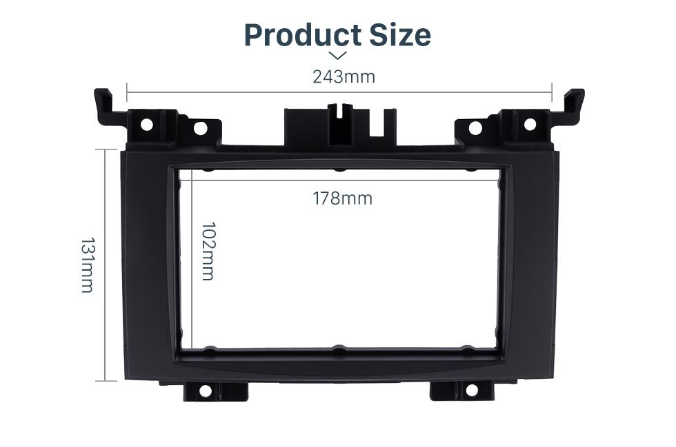 Product Sizel Black 2 Din 2006 Benz Sprinter/ Volkswagen Crafter Car Radio Fascia DVD Panel Installation Trim Dash Kit Audio Cover Frame
