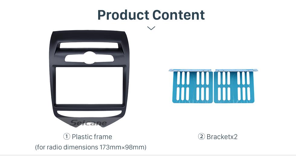 Seicane Black Double Din 2012 Hyundai IX20 with Manual AC Car Radio Fascia Dash CD Trim Installation DVD panel Frame