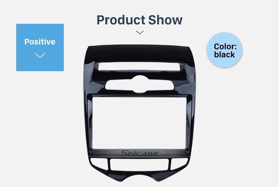 Seicane UV Black 2 Din 2012 Hyundai IX20 with Auto AC Car Radio Fascia Refitting Frame Kit Auto Stereo Interface Adapter