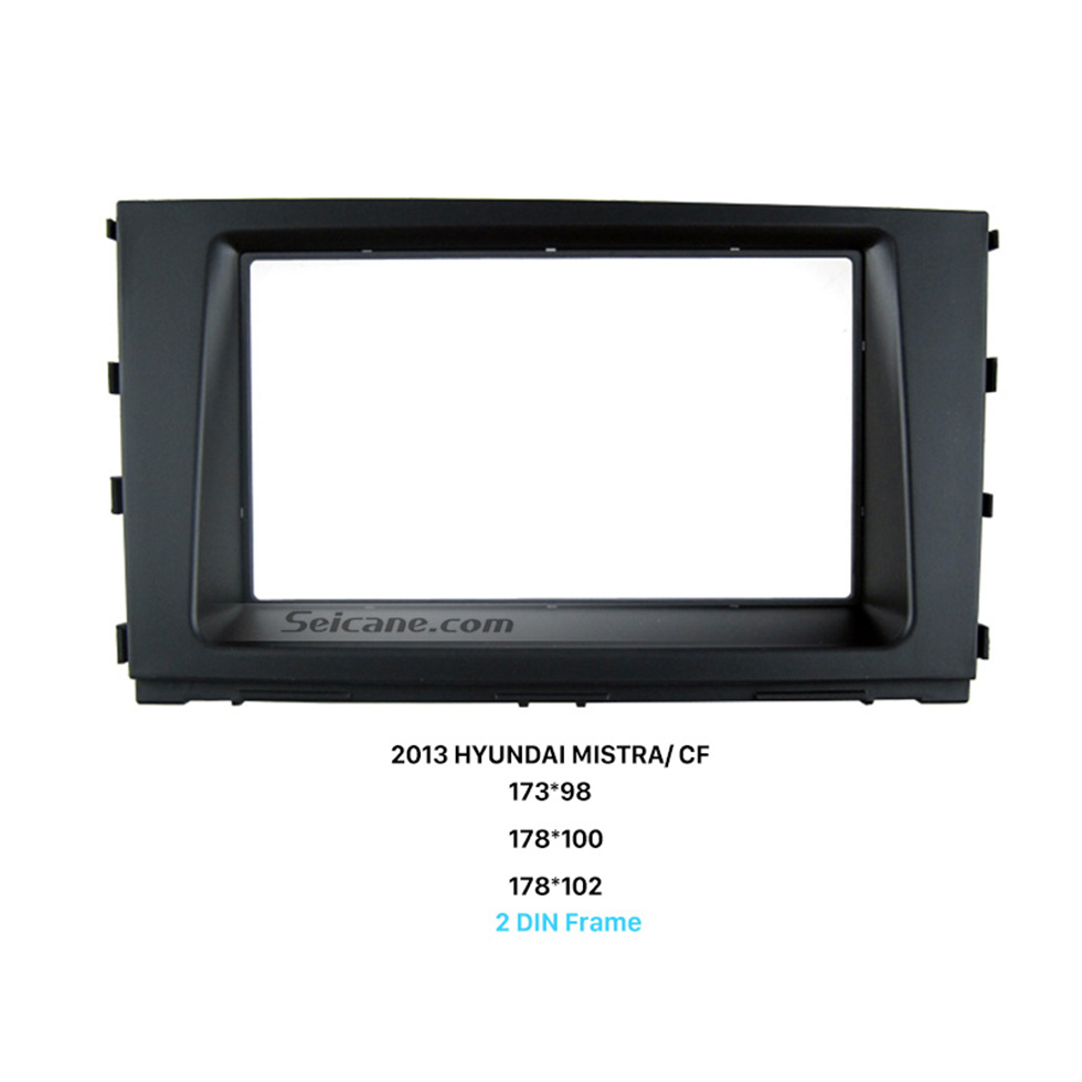 Seicane Well Designed Double Din 2013 HYUNDAI MISTRA CF Car Radio Fascia Auto Stereo Adapter Panel Plate CD Trim
