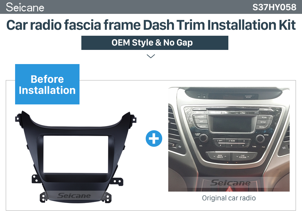 Seicane Double Din 2014 HYUNDAI ELANTRA I-35 Left Hand Drive Car Radio Fascia Dash CD Audio Player Panel Plate Frame
