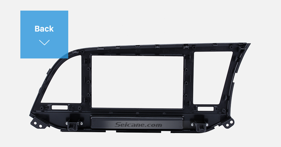 Seicane Perfect Double Din 2015 HYUNDAI ELANTRA LHD Car Radio Fascia Trim Bezel DVD Stereo Player Panel Frame
