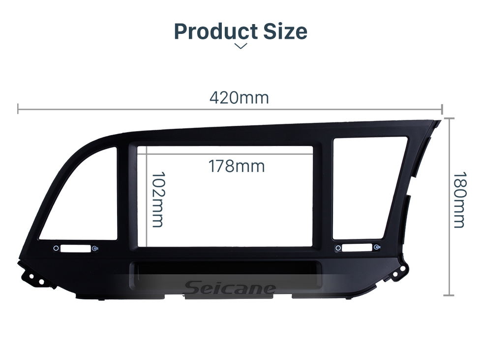 Seicane Awesome 2Din 2015 HYUNDAI ELANTRA RHD Car Radio Fascia Stereo Install Frame CD Trim Dash Installation Kit