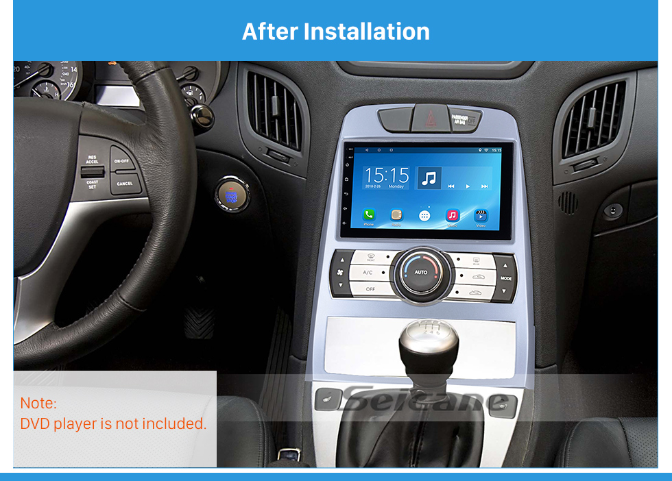 Seicane Fabulous 2in 2010 Hyundai Rohens Coupe UK Type Auto AC RHD Car Radio Fascia Dash CD Audio Player Frame Panel