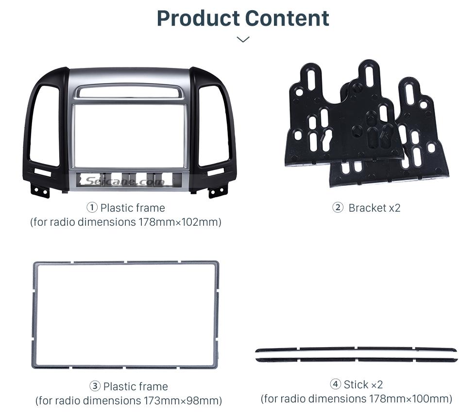 Product Content OEM Double Din 2007 HYUNDAI SANTAFE HIGH-END Car Radio Fascia Installation Trim Dash Kit Frame Panel Adapter