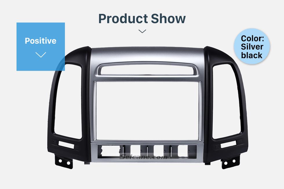 Product Show OEM Double Din 2007 HYUNDAI SANTAFE HIGH-END Car Radio Fascia Installation Trim Dash Kit Frame Panel Adapter