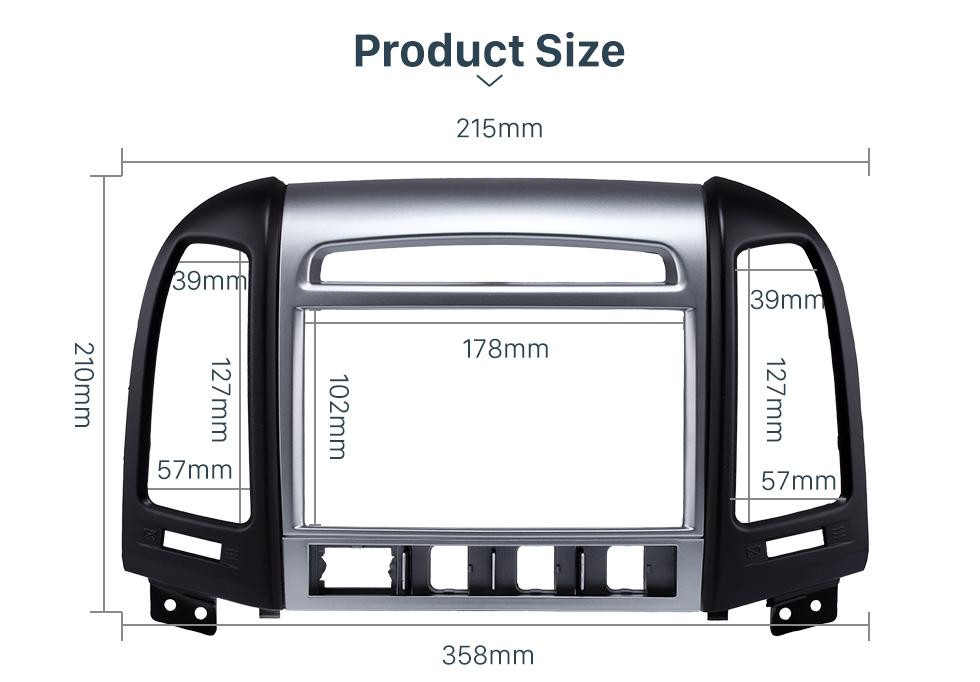 Product Size OEM Double Din 2007 HYUNDAI SANTAFE HIGH-END Car Radio Fascia Installation Trim Dash Kit Frame Panel Adapter