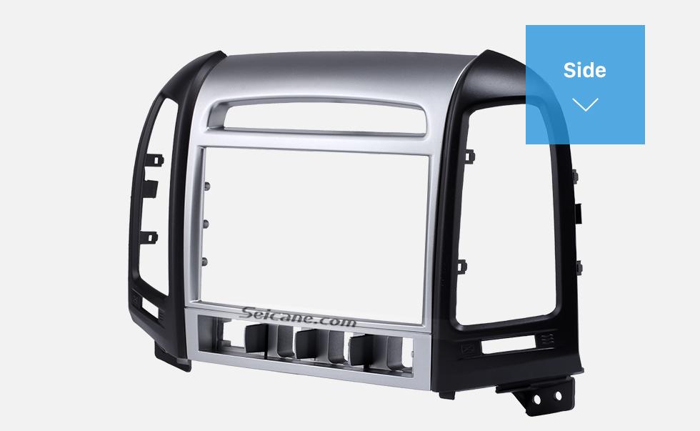 Side OEM Double Din 2007 HYUNDAI SANTAFE HIGH-END Car Radio Fascia Installation Trim Dash Kit Frame Panel Adapter