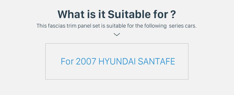 Seicane 178*100mm 2Din 2007 HYUNDAI SANTAFE Car Radio Fascia Panel Adaptor DVD Player Auto Stereo Installation Frame