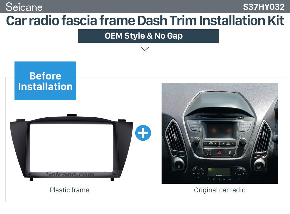 Car radio fascia frame Dash Trim Installation Kit  Stunning Double Din 2010 HYUNDAI TUCSON IX35 Car Radio Fascia Install Frame DVD panel Stereo Interface