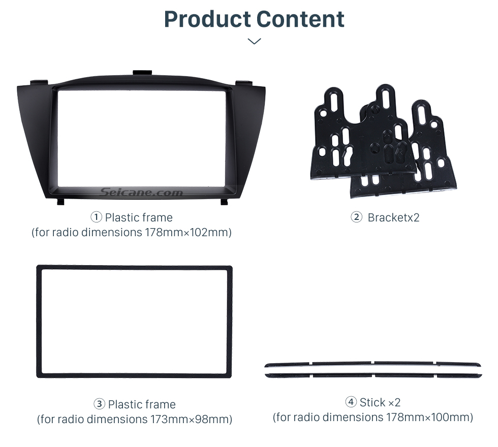 Product Content Stunning Double Din 2010 HYUNDAI TUCSON IX35 Car Radio Fascia Install Frame DVD panel Stereo Interface