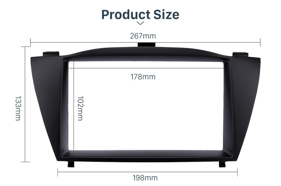 Product Size Stunning Double Din 2010 HYUNDAI TUCSON IX35 Car Radio Fascia Install Frame DVD panel Stereo Interface