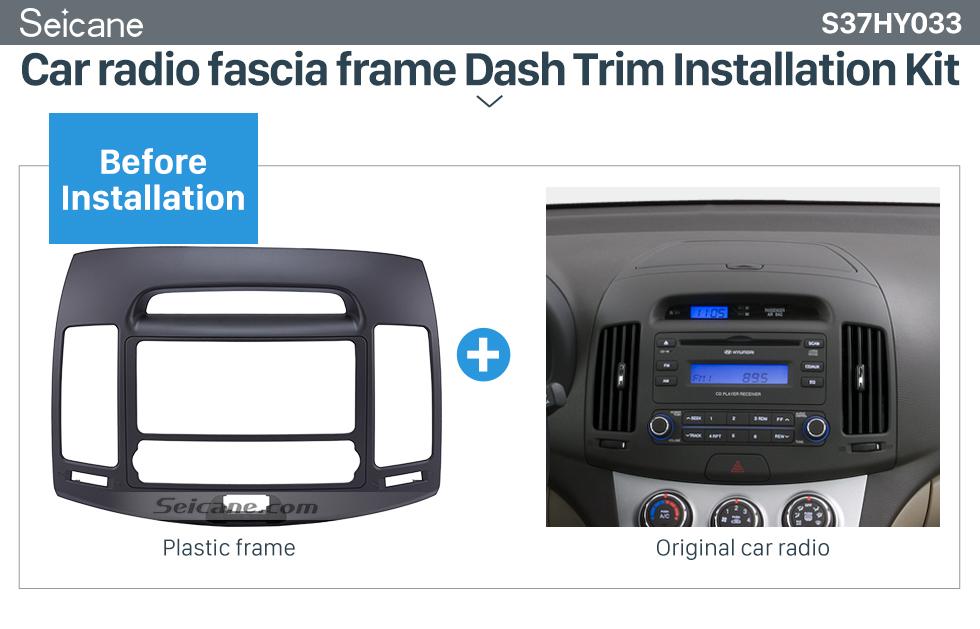 Seicane Elegant Double Din 2006 HYUNDAI ELANTRA Car Radio Fascia Dash Kit CD Trim Car DVD Gps Decorative Frame
