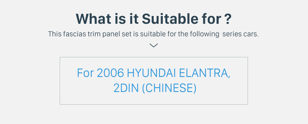 Seicane Beautiful 2Din 2006 HYUNDAI ELANTRA CHINESE Car Radio Fascia Stereo Install Frame DVD Player Dash Mount Kit