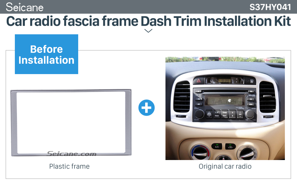Seicane Fantastic Double Din 2008 HYUNDAI ACCENT Car Radio Fascia Audio Player Trim Installation Panel Frame