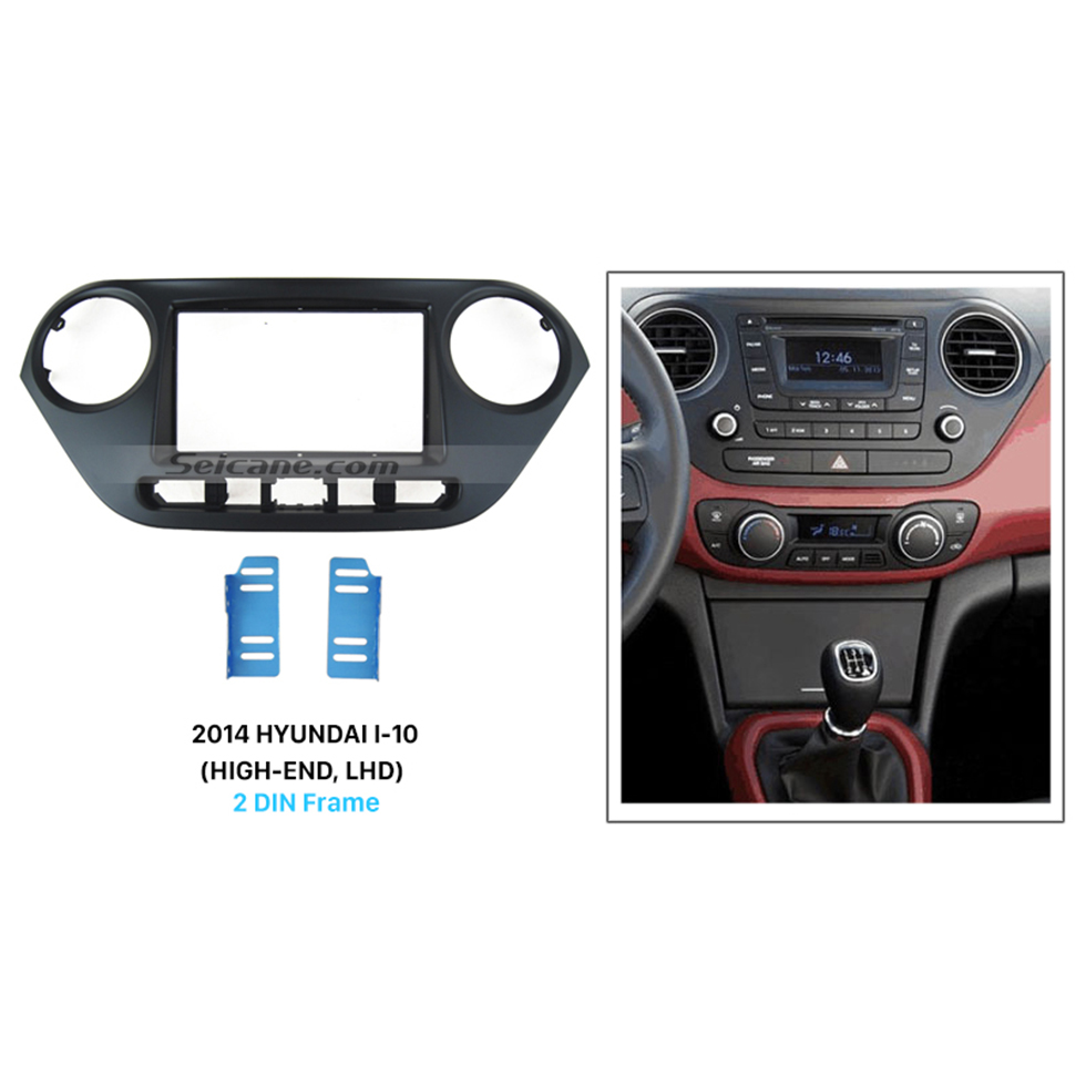 Seicane Cool 2Din 2014 HYUNDAI I-10 HIGH-END LHD Car Radio Fascia Stereo Install DVD panel Trim Installation Kit