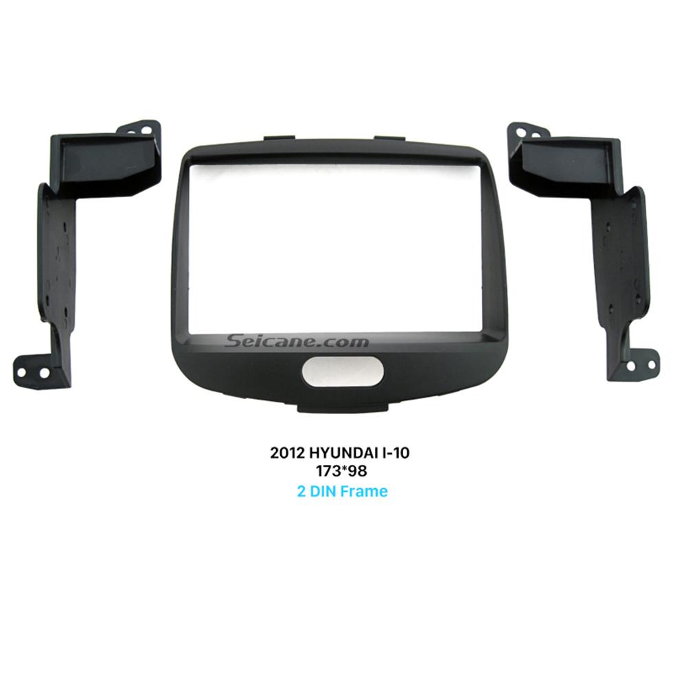 Seicane Superior Double Din 2012 HYUNDAI I-10 Car Radio Fascia Surround Panel Stereo Install CD Trim