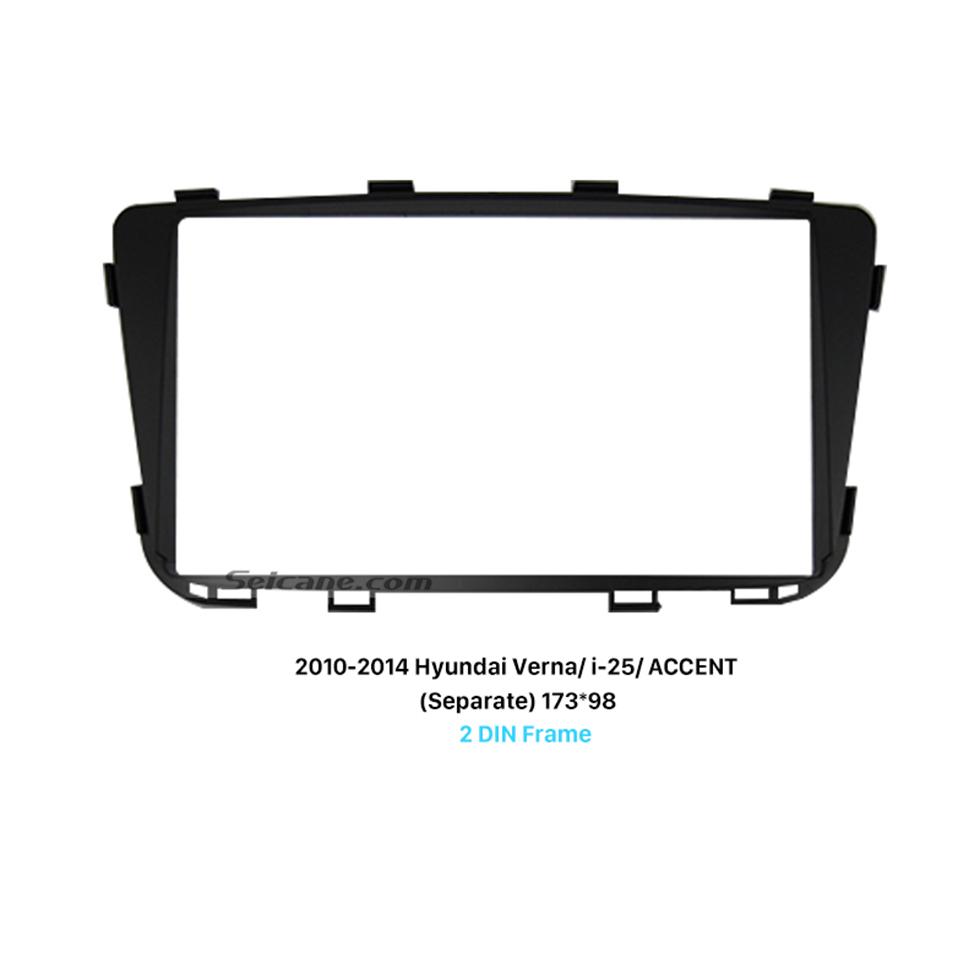 Seicane Separate 2Din 2010-2014 HYUNDAI VERNA I-25 ACCENT Car Radio Fascia DVD panel Face Plate Dash CD