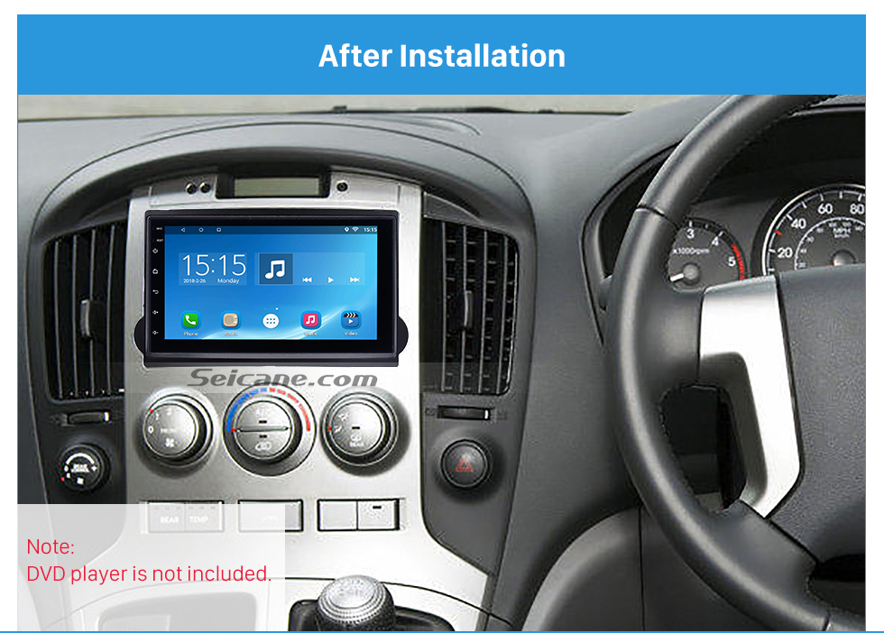 Seicane Black Double Din 2010 HYUNDAI STAREX H1 Car Radio Fascia Dash Kit Panel Plate Auto Stereo CD Frame