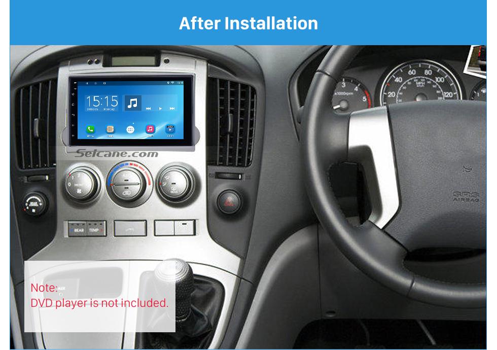 Seicane Silver 2Din 2010 HYUNDAI STAREX H1 Car Radio Fascia DVD Stereo Player Trim Install Frame Dash Kit