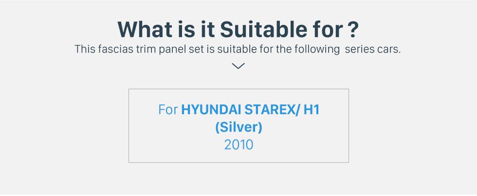 Seicane Silver 2Din 2010 HYUNDAI STAREX H1 Автомобиль Радио Fascia DVD-плеер Стерео Обрезка Установить рамки тире Kit