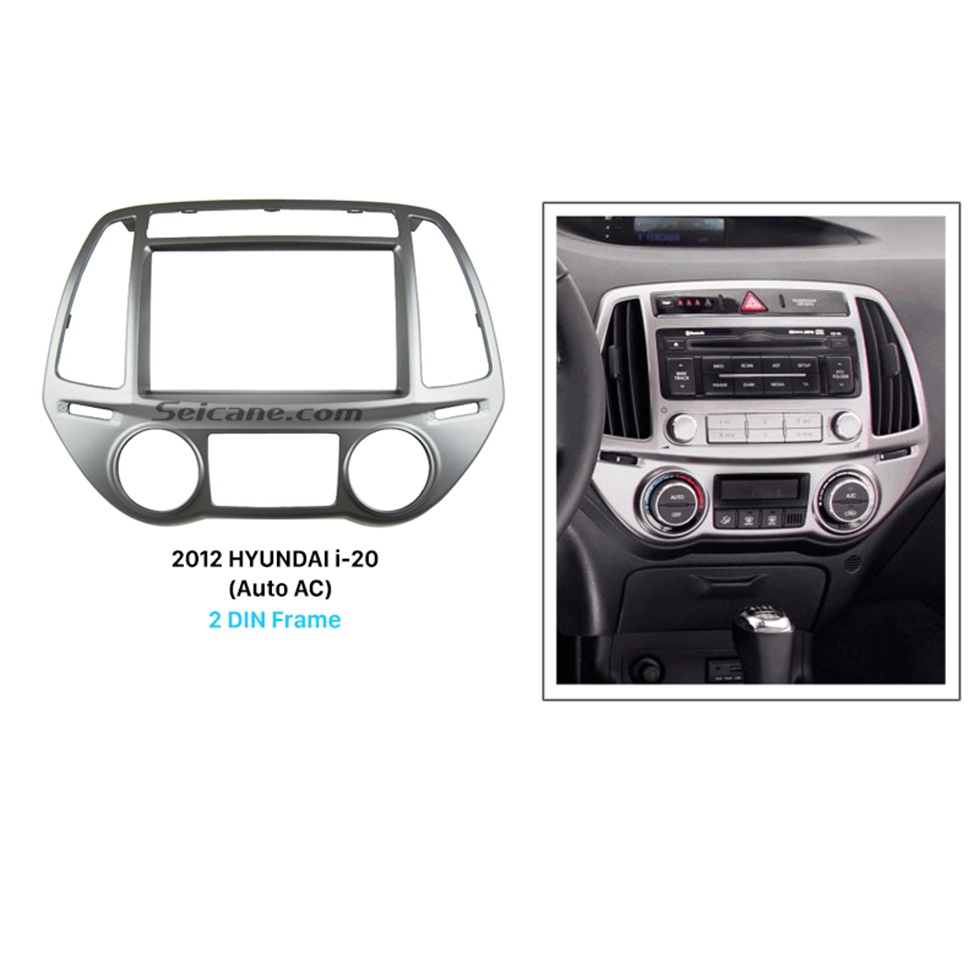 Seicane Delicate Double Din 2012 HYUNDAI I-20 Auto AC Car Radio Fascia Dash CD Audio Player Panel Plate Frame