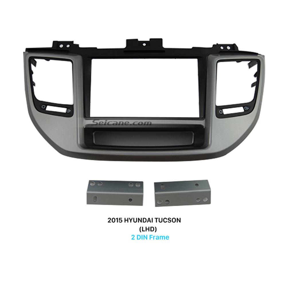 Seicane Exquisite Separate Double Din 2015 HYUNDAI TUCSON LHD Car Radio Fascia Dash CD Audio Player Refitting Car Kits