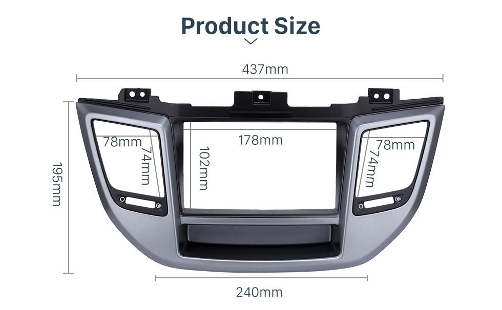 Seicane Fabulous Separate 2 Din 2015 HYUNDAI TUCSON RHD Car Radio Fascia Install Frame CD Trim Dash Mount