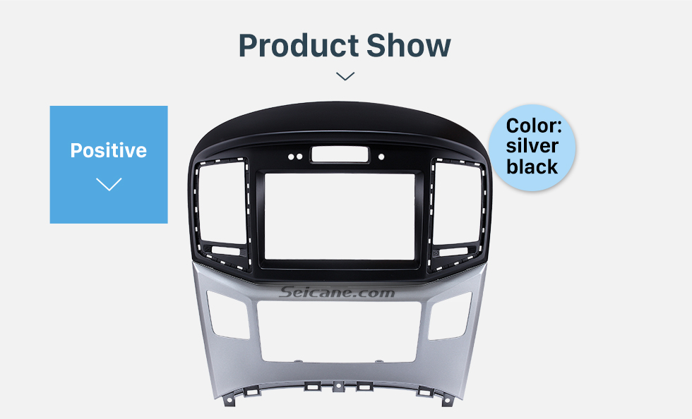Product Show Preferred 2Din 2015 HYUNDAI STAREX H1 With Clock Version Car Radio Fascia Trim Bezel Frame Audio Player Face Plate