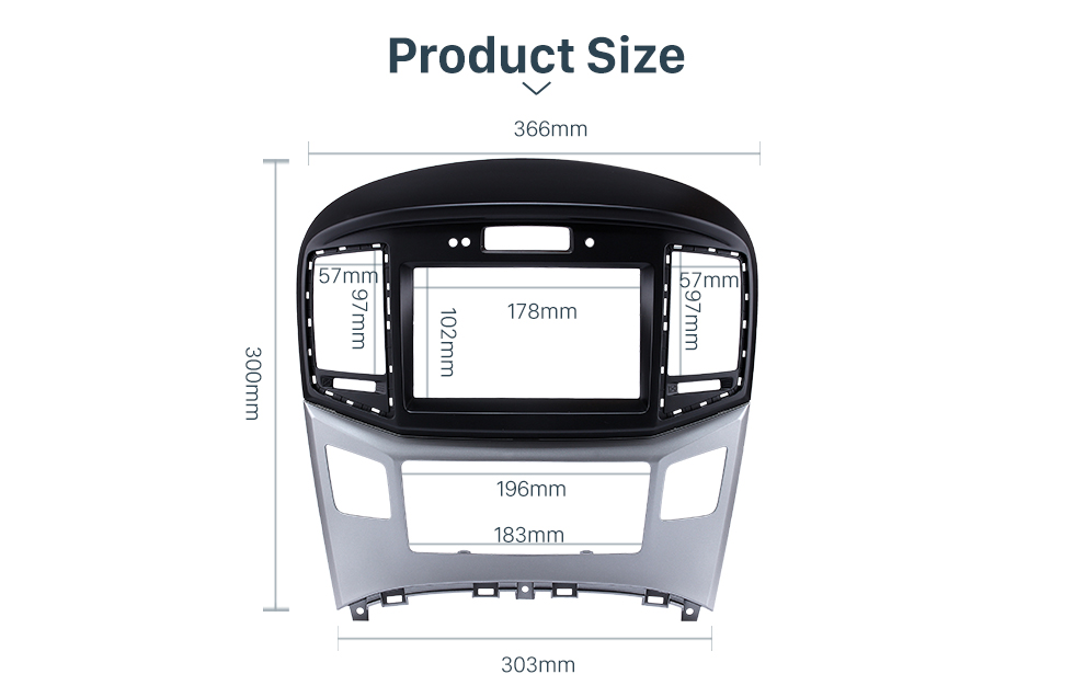 Product Size Preferred 2Din 2015 HYUNDAI STAREX H1 With Clock Version Car Radio Fascia Trim Bezel Frame Audio Player Face Plate