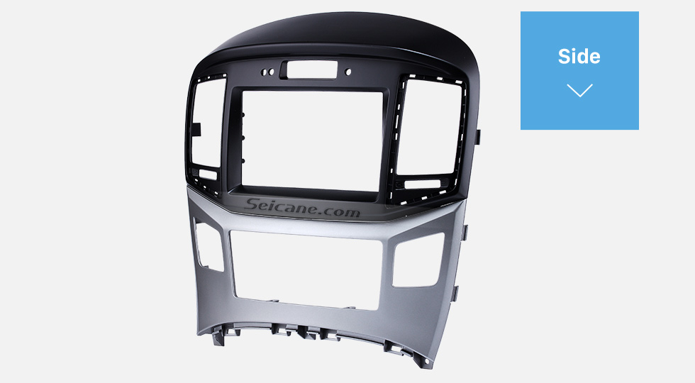 Side Preferred 2Din 2015 HYUNDAI STAREX H1 With Clock Version Car Radio Fascia Trim Bezel Frame Audio Player Face Plate