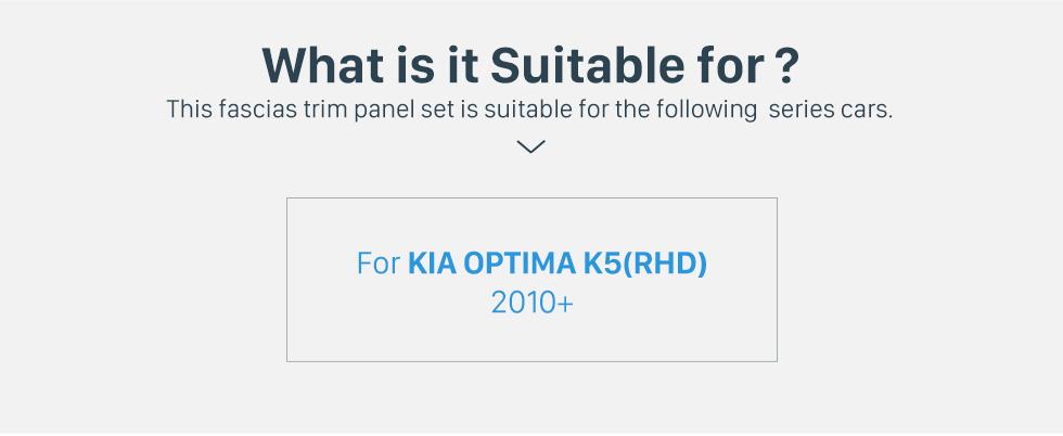 Seicane Great Double Din 2010+ KIA OPTIMA K5 Right Hand Drive Car Radio Fascia Audio Frame Dash Mount Trim Installation