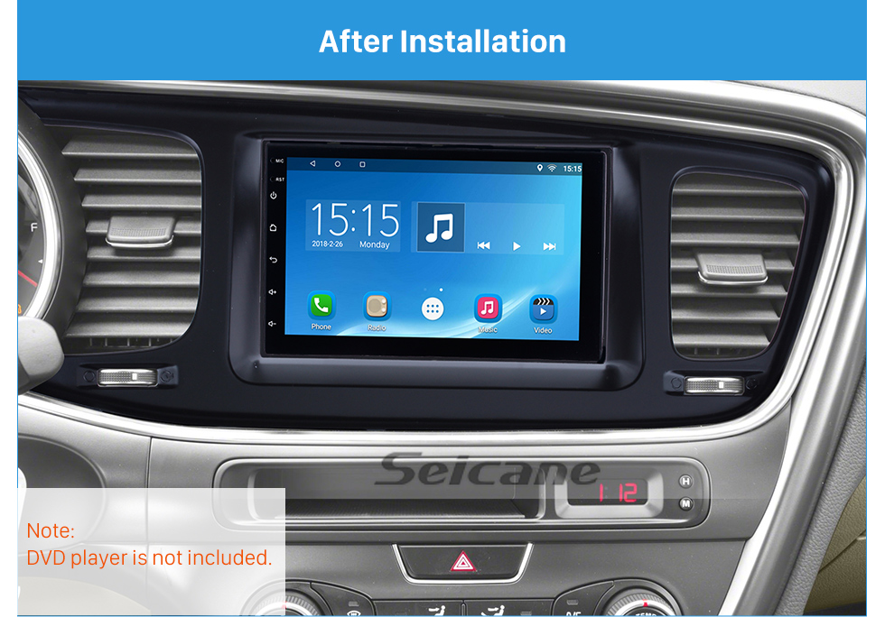 Seicane Fashionable 2Din 2013 KIA K5 Left Hand Drive Car Radio Fascia Stereo Interface Fitting Frame Audio Player