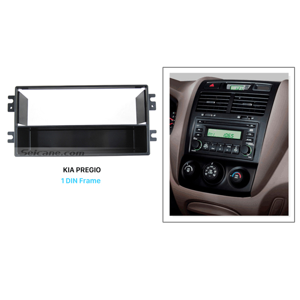 Seicane Luxury 1Din 2005-2009 KIA PREGIO II Car Radio Fascia Dash Installation Kit Face Plate Panel Audio Fitting Adaptor