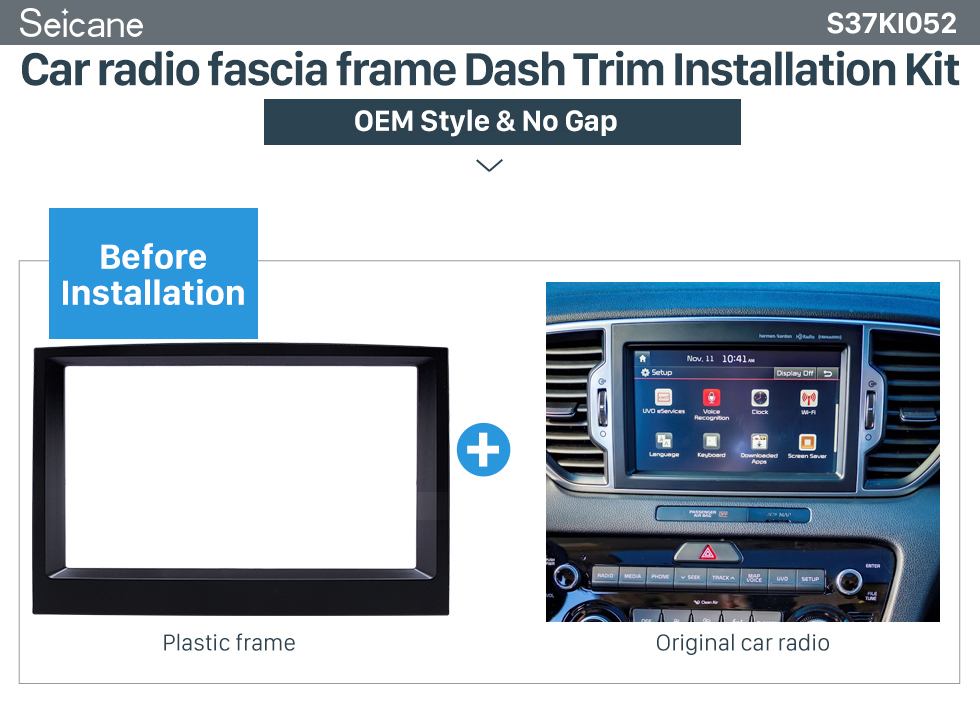 Car radio fascia frame Dash Trim Installation Kit Flawless Double Din 2015 KIA SPORTAGE Car Radio Fascia Dash Trim Kits Audio Frame Autostereo Adapter