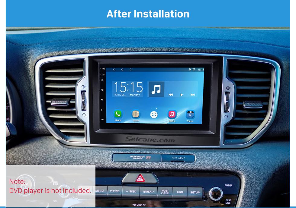 After Installation Flawless Double Din 2015 KIA SPORTAGE Car Radio Fascia Dash Trim Kits Audio Frame Autostereo Adapter