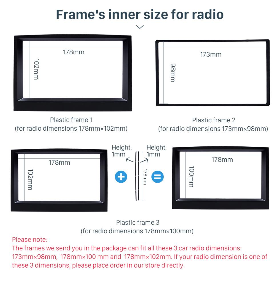 Frame's inner size for radio Flawless Double Din 2015 KIA SPORTAGE Car Radio Fascia Dash Trim Kits Audio Frame Autostereo Adapter