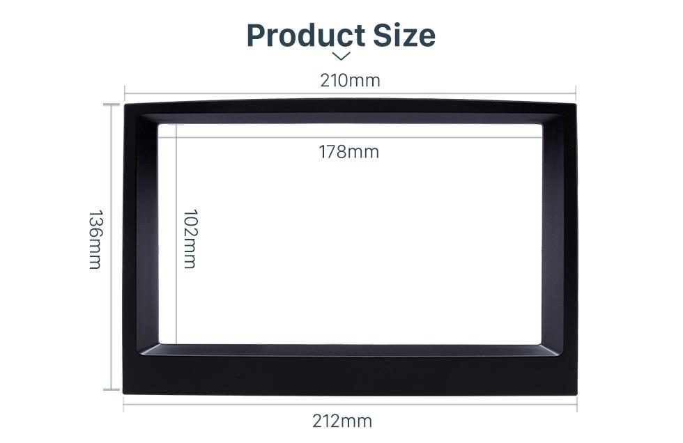 Product Size Flawless Double Din 2015 KIA SPORTAGE Car Radio Fascia Dash Trim Kits Audio Frame Autostereo Adapter