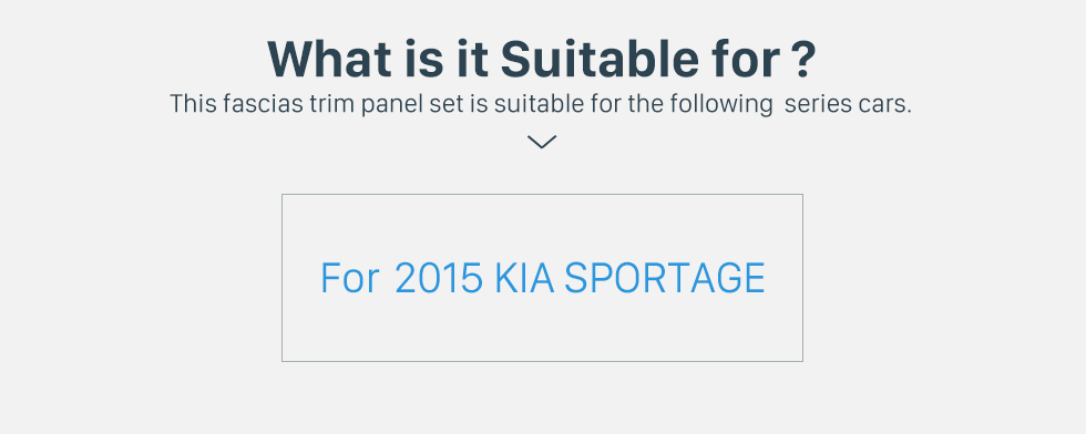 What is it Suitable for? Flawless Double Din 2015 KIA SPORTAGE Car Radio Fascia Dash Trim Kits Audio Frame Autostereo Adapter