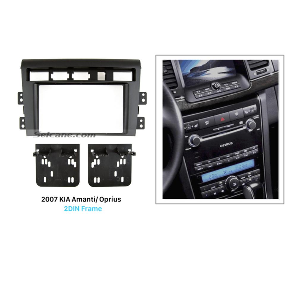 Seicane Stunning Double Din 2007 KIA Amanti Oprius Car Radio Fascia Dash Mount Trim Panel Kit Audio Frame
