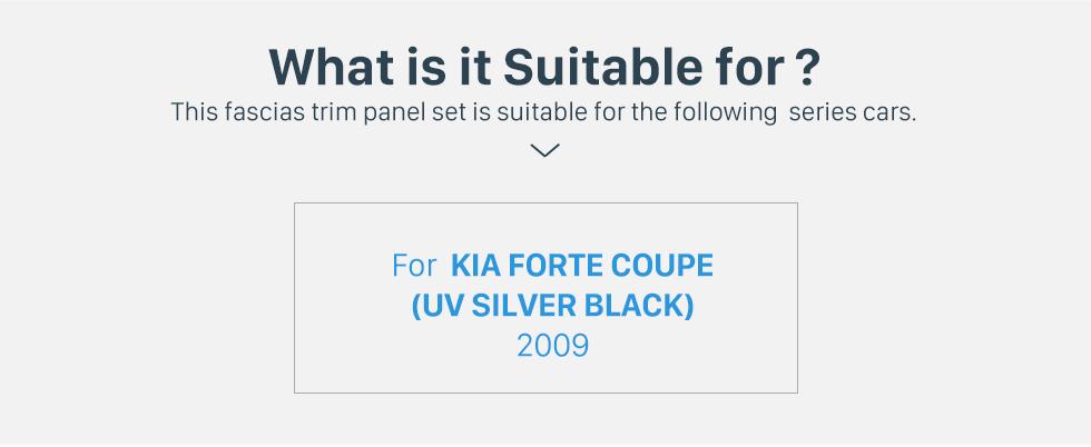 Seicane UV Silver Black Double Din 2009 KIA Forte Coupe Car Radio Fascia Trim Panel Car Refitting Outter Frame