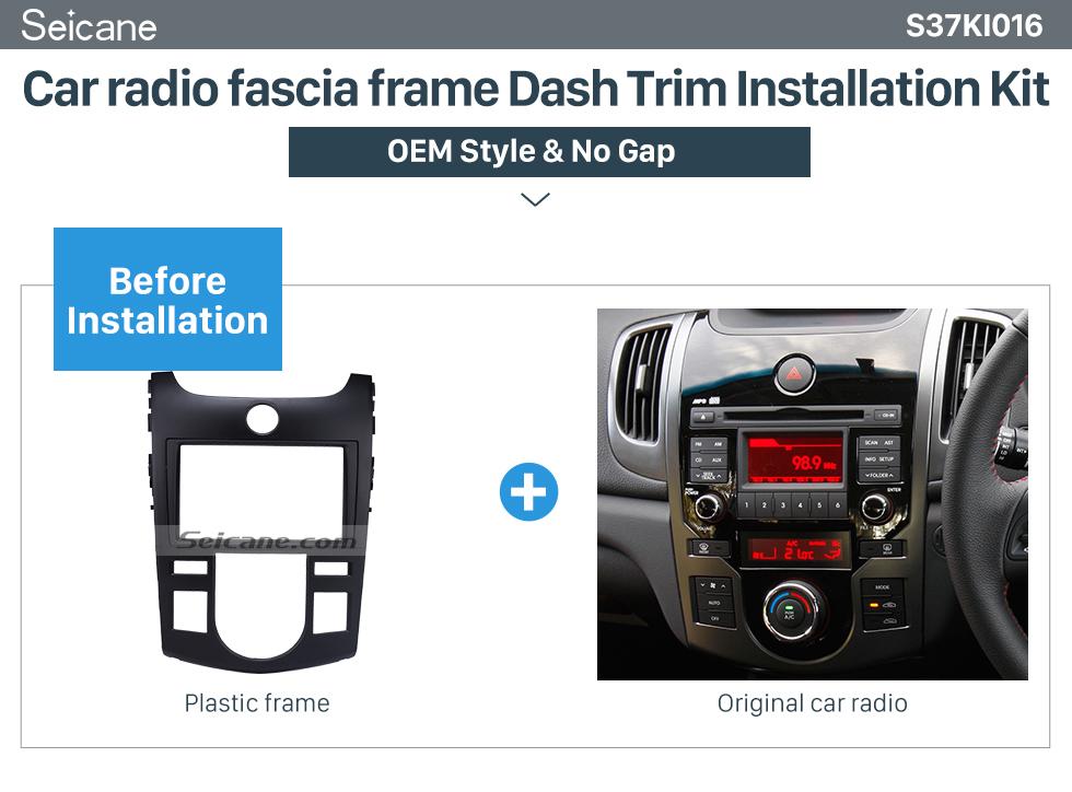 Seicane Black Combination 2Din 2009 KIA FORTE Auto AC Car Radio Fascia Audio Frame CD Trim Stereo Install