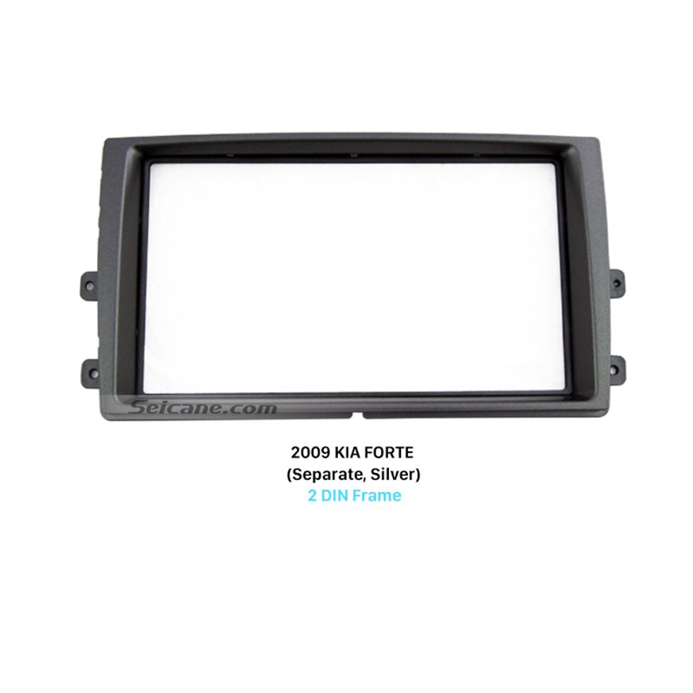 Seicane Separate Double Din 2009 KIA FORTE Car Radio Fascia Dash Mount Car refitting DVD frame Panel Kit
