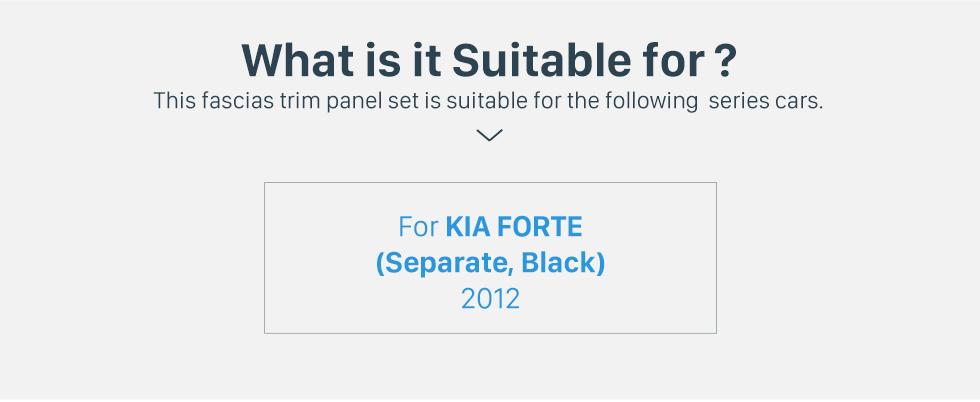 Seicane Separate Double Din 2009 KIA FORTE Car Radio Fascia DVD Frame CD Trim Installation Panel Adaptor