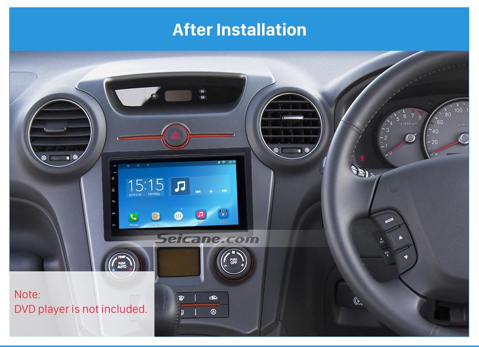Seicane 173*98mm Double Din 2008 KIA CARENS Car Radio Fascia Audio Fitting Adaptor Trim Panel Kit Plate Frame