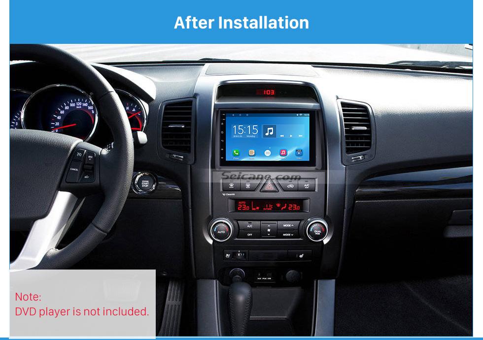 After Installation Black Double Din 2010 KIA SORENTO Car Radio Fascia Trim Install Frame Autostereo Adapter Dash Kit