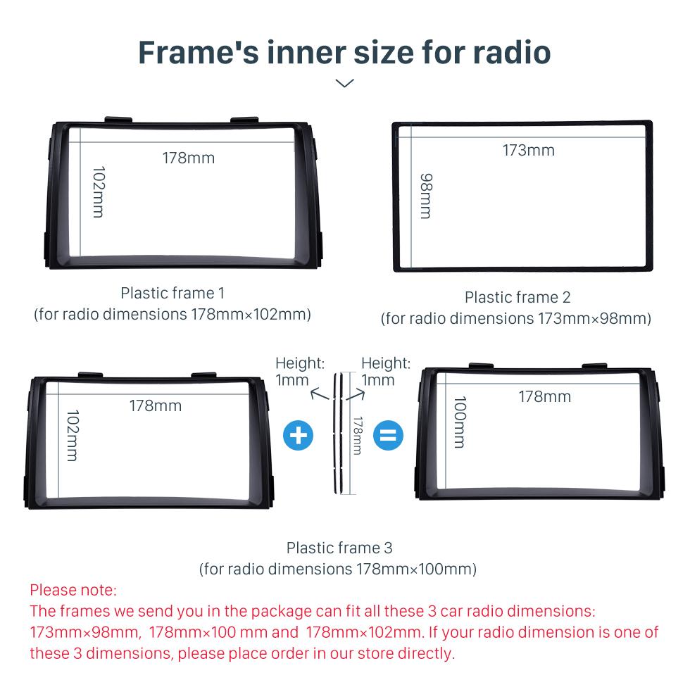 Frame's inner size for radio Black Double Din 2010 KIA SORENTO Car Radio Fascia Trim Install Frame Autostereo Adapter Dash Kit