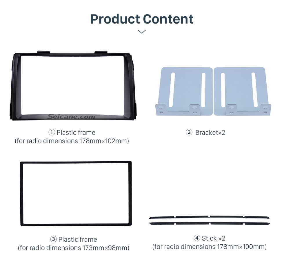 Product Content Black Double Din 2010 KIA SORENTO Car Radio Fascia Trim Install Frame Autostereo Adapter Dash Kit
