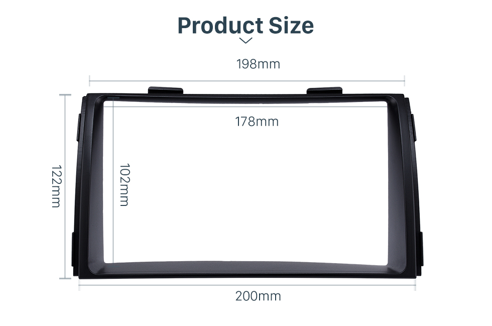 Product Size Black Double Din 2010 KIA SORENTO Car Radio Fascia Trim Install Frame Autostereo Adapter Dash Kit