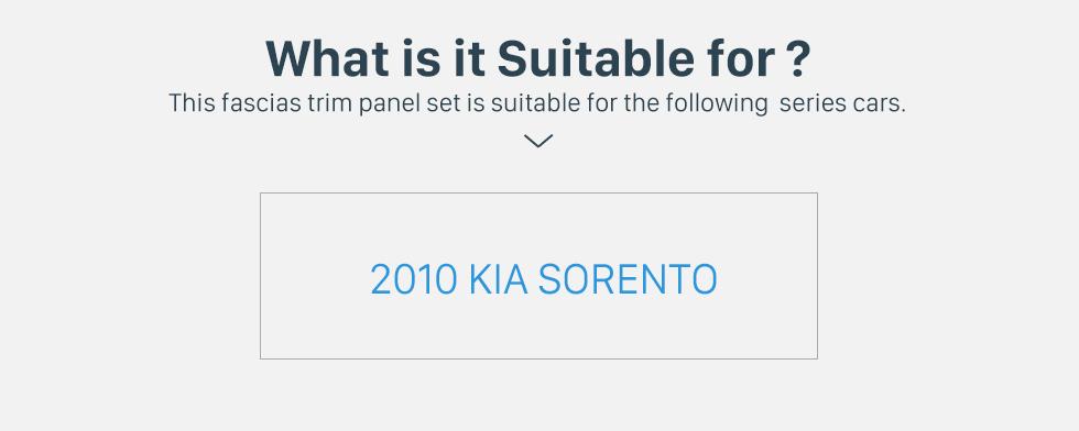 What is it Suitable for? Black Double Din 2010 KIA SORENTO Car Radio Fascia Trim Install Frame Autostereo Adapter Dash Kit